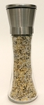 Organic Sea Salt with Pepper & Onion in Stainless Steel Finished Grinder