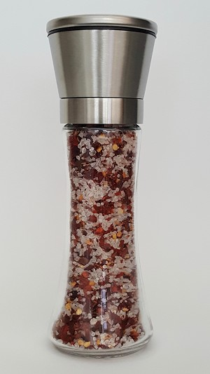 Sea Salt & Chilli in Stainless Steel Grinder